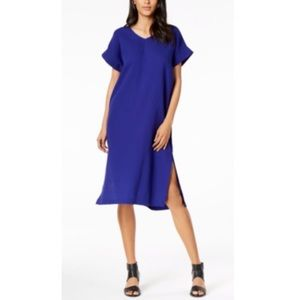Eileen Fisher 100% Cotton V-neck Shift dress | XS
